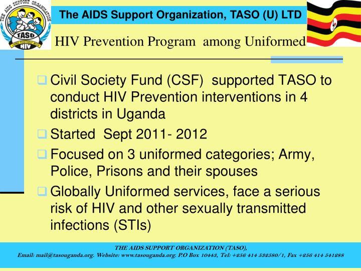 HIV Prevention Program  among Uniformed