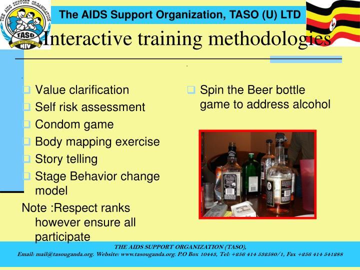 Interactive training methodologies