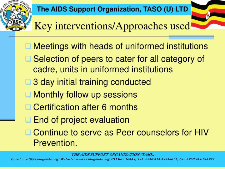 Key interventions/Approaches used
