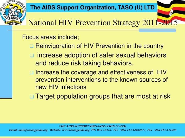 National HIV Prevention Strategy 2011-2015