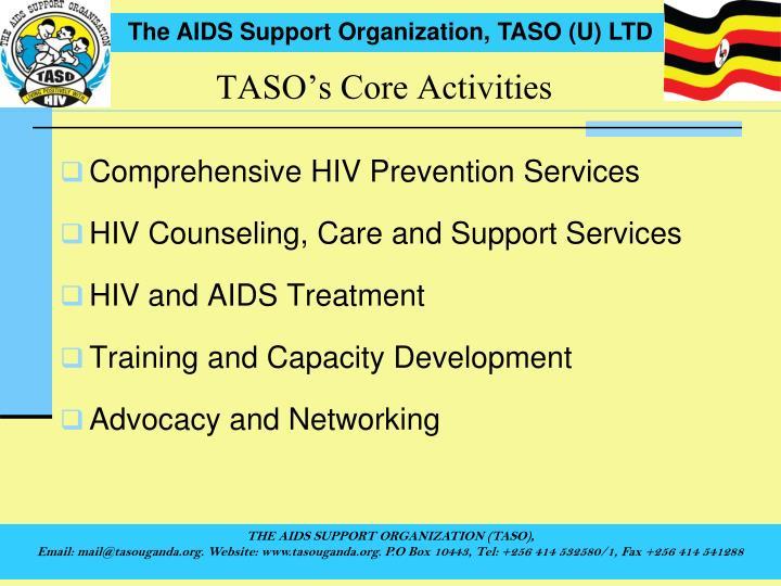 TASO's Core Activities