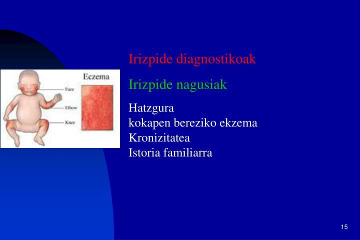 Irizpide diagnostikoak