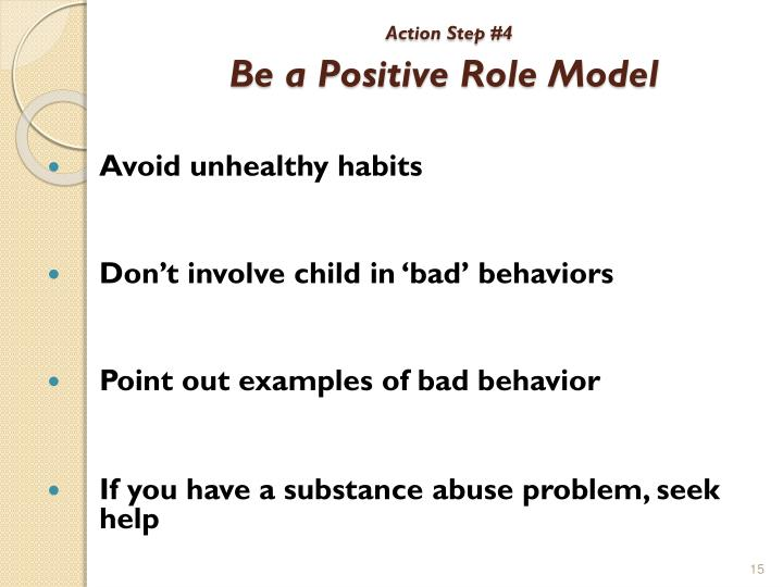qualities of a bad role model A role model can help you avoid problems, reach your goals, and succeed in life the key is to choose a good role model with good qualities.