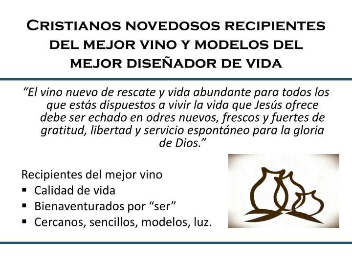 Cristianos novedosos recipientes del mejor vino y modelos del mejor diseñador de vida