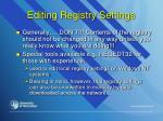 editing registry settings