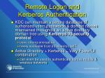 remote logon and kerberos authentication