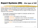expert systems es one type of iss