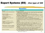 expert systems es one type of iss1