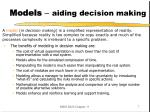 models aiding decision making