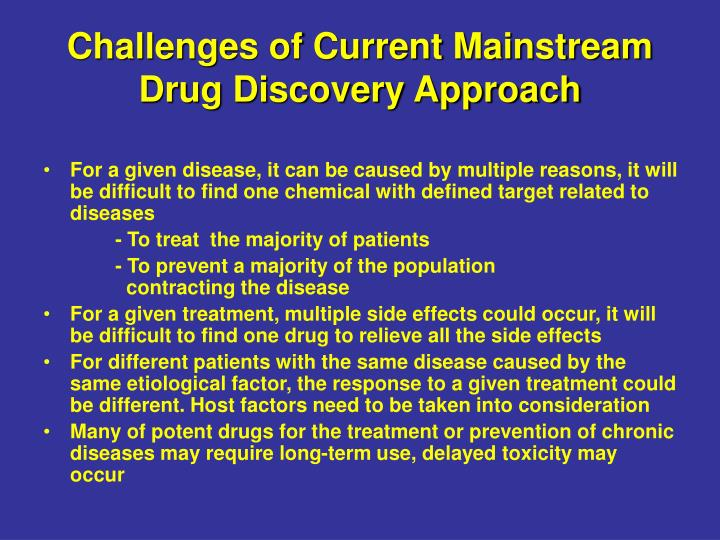 Challenges of Current Mainstream Drug Discovery Approach