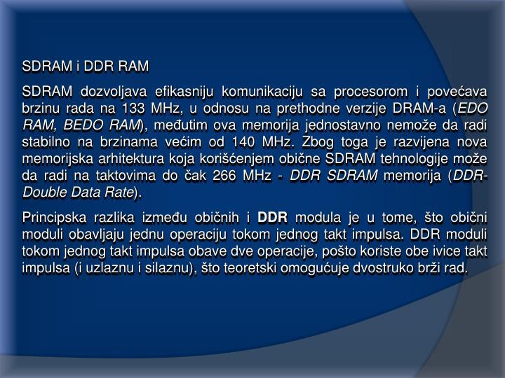 SDRAM i DDR RAM
