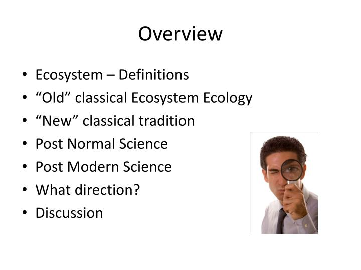 overview of ecosystems essay The importance of ecosystems to all life essay - all ecosystems are important to all life, regardless of how big the particular ecosystem is freshwater aquatic ecosystems account for a minority of global aquatic ecosystems, with most being saltwater, but their health is critical to the planet and to human life.