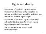 rights and identity