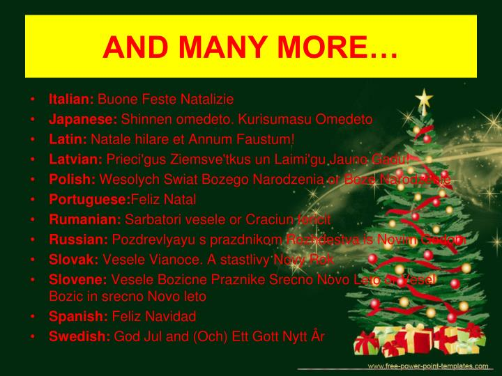 Ppt Merry Christmas In Many Languages Croatian Included