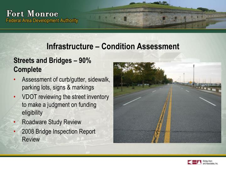 Infrastructure condition assessment1