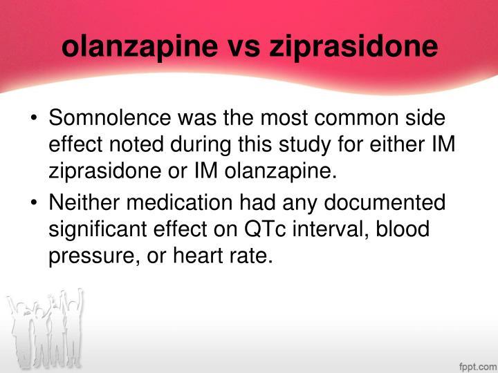 olanzapine vs ziprasidone