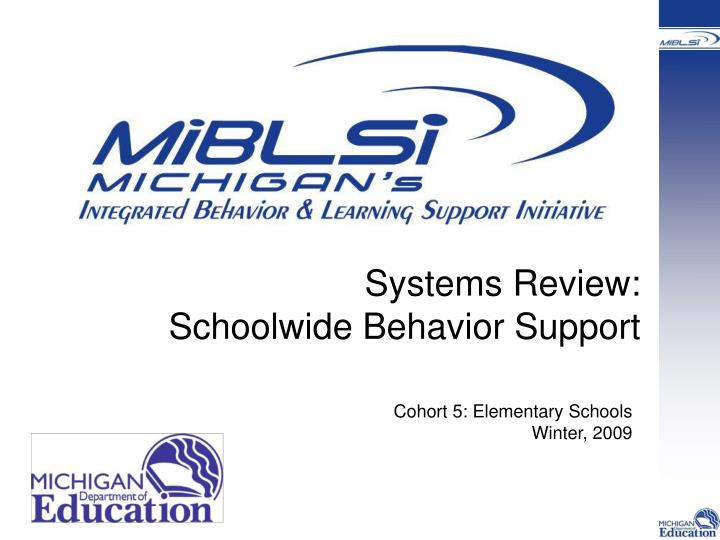 systems review schoolwide behavior support n.