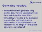generating metadata