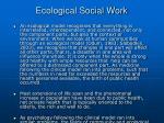 ecological social work