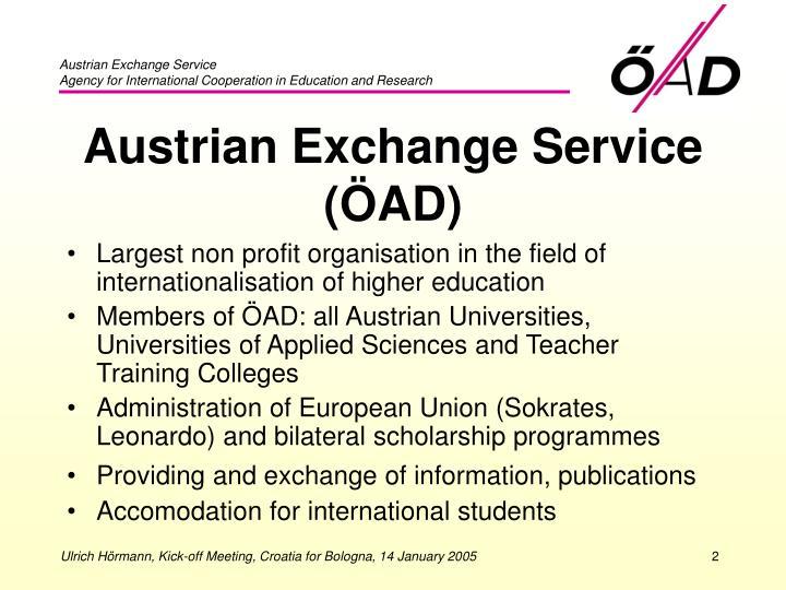 Austrian exchange service ad