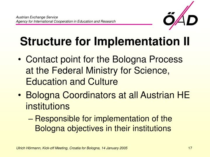 Structure for Implementation II