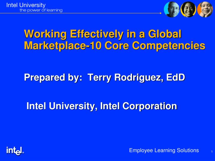 Working effectively in a global marketplace 10 core competencies
