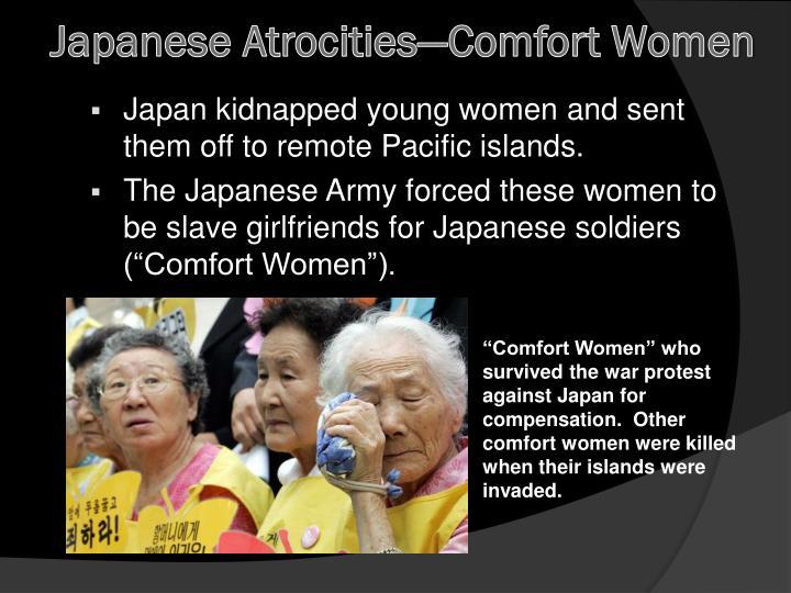 Japanese Atrocities—Comfort Women