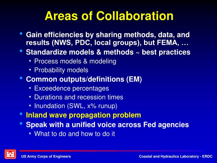 Areas of Collaboration
