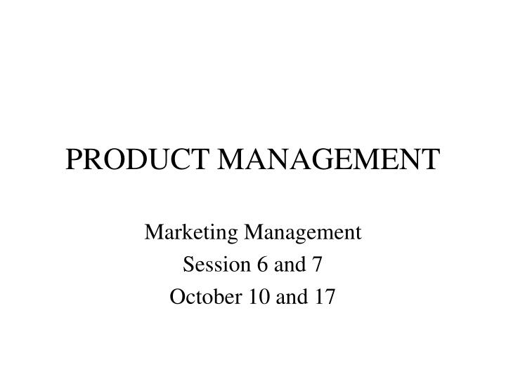product management n.
