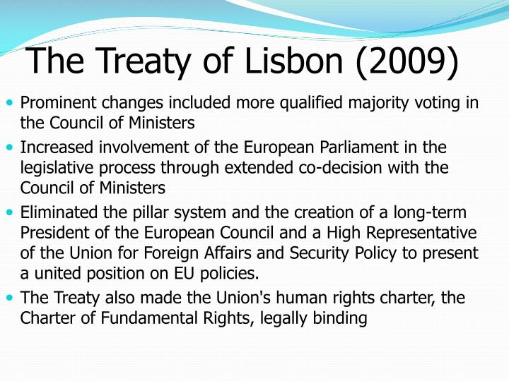 europe the lisbon treaty essay The lisbon treaty is in essence the constitution of europe under a different guise, discuss an example european law essay introduction the treaty of lisbon1 is essentially one of the most important documents underpinning the existence and smooth functionality of the european union (eu.