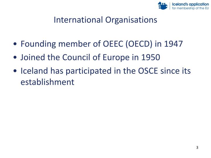 International organisations1