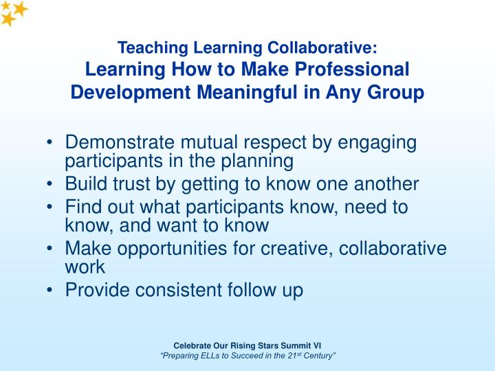 Teaching Learning Collaborative: