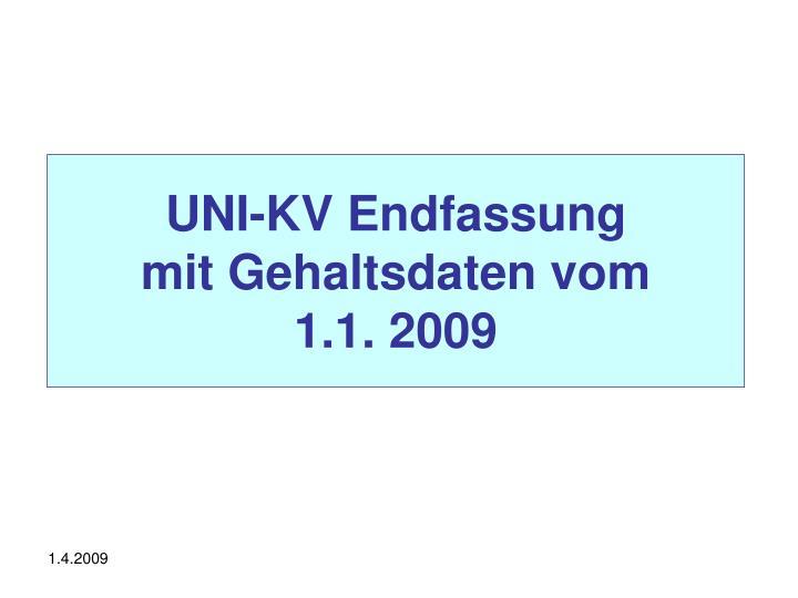 Uni kv endfassung mit gehaltsdaten vom 1 1 2009