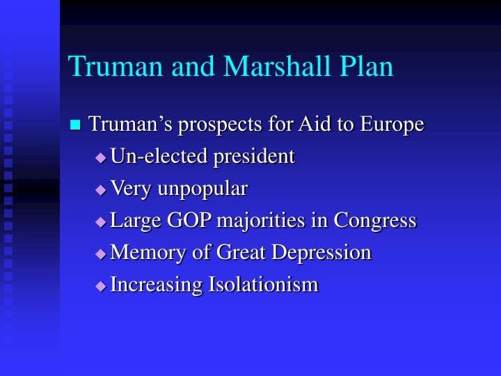 Truman and Marshall Plan
