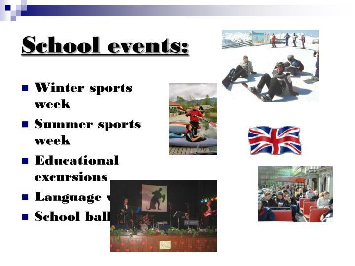 School events: