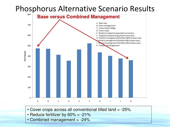 Phosphorus Alternative Scenario Results