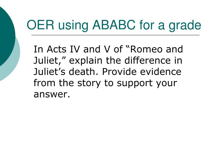 OER using ABABC for a grade