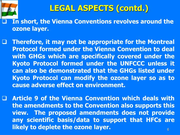 LEGAL ASPECTS (contd.)
