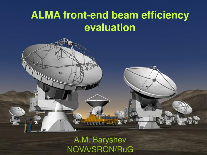 alma front end beam efficiency evaluation