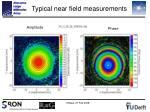 typical near field measurements