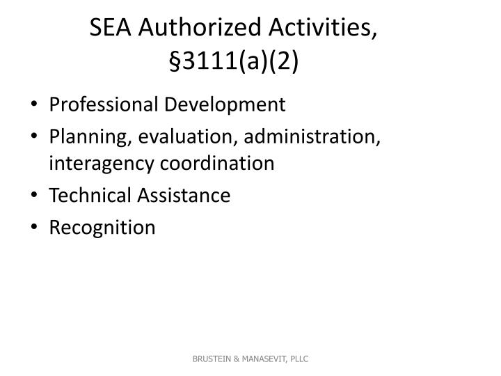 SEA Authorized Activities, §3111(a)(2)