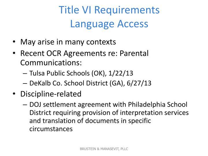 Title VI Requirements
