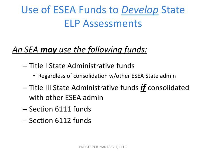 Use of ESEA Funds to