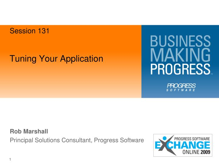 tuning your application n.