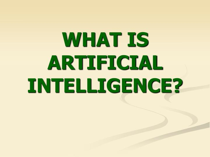 what is artificial intelligence n.