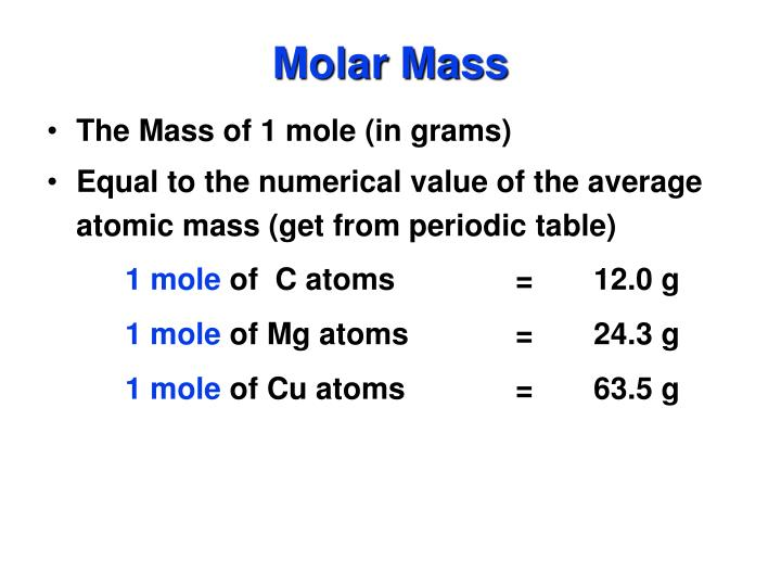 molar mass of cu The molar mass of silver nitrate (agno3) is found by adding up the weight of its parts the molecular weight of silver is 10787, nitrogen is 14, and oxygen is 16 the sum of 10787 + 14 + 48 (3 oxygens) equals 16987 grams per mole.