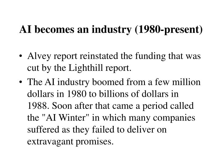 AI becomes an industry (1980-present)