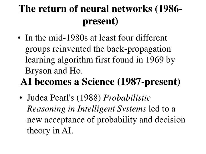 The return of neural networks (1986-present)