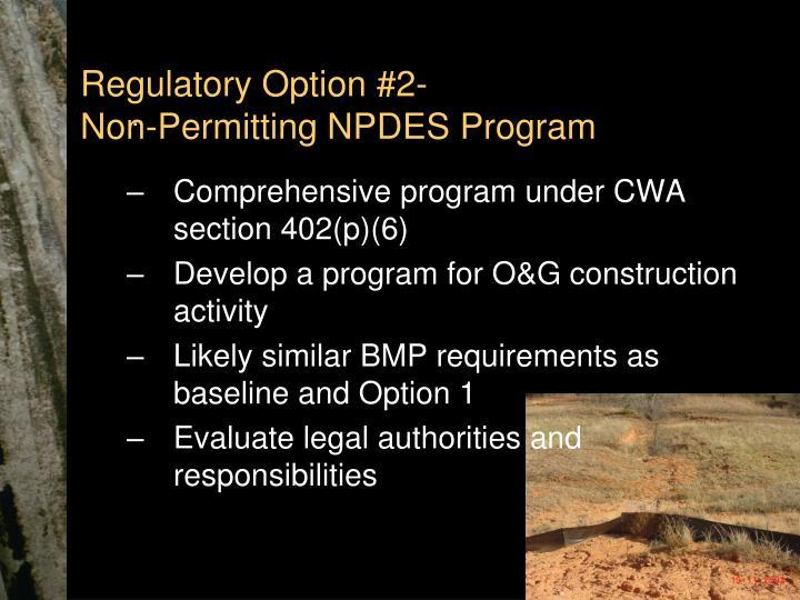Regulatory Option #2-