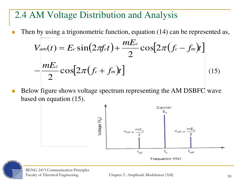 PPT - Chapter 2 : Amplitude Modulation (AM) Transmission and